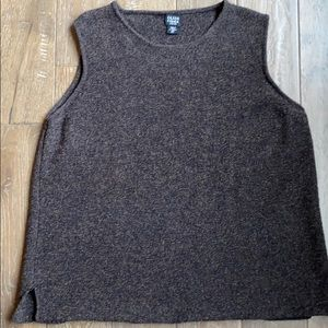 Eileen Fisher Wool Tank Brown 2X